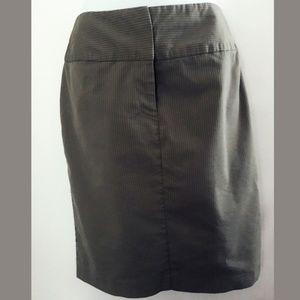 Chadwicks Gray and Green Pin Stripe Skirt